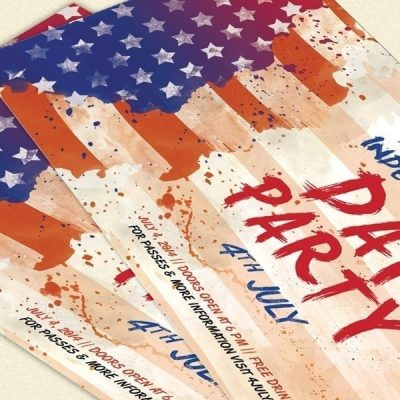 4th July Flyer PSD Template