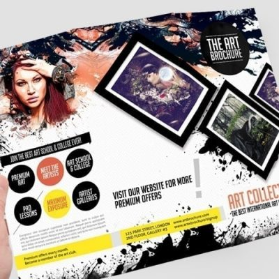 Contemporary Art Brochure Photoshop PSD Template