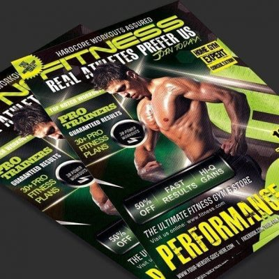 Ultimate Fitness Flyer Photoshop PSD Template