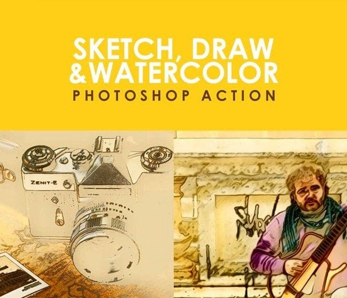 Sketch, Draw Photoshop Action