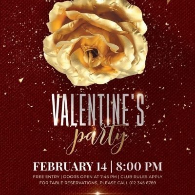 Valentines Day Party PSD Template