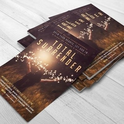 Church Themed Sermon Poster PSD Template - I Surrender