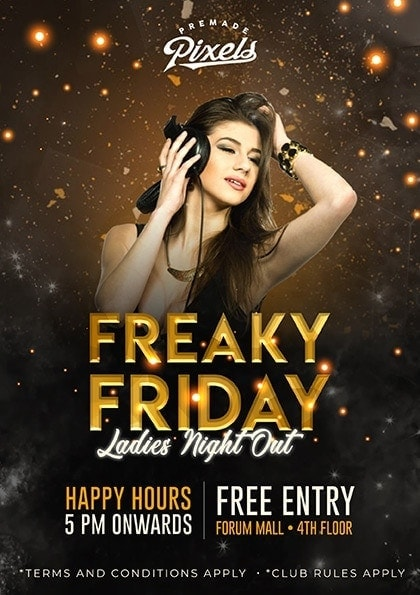 Friday Party Photoshop Template PSD