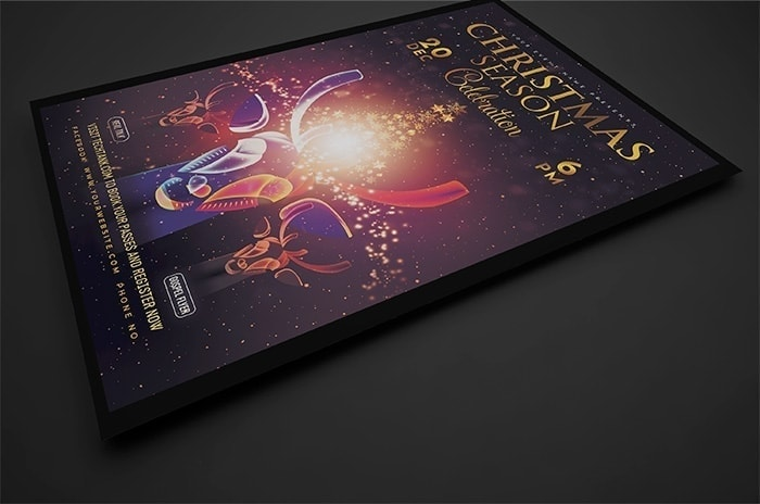 Christmas Event Poster PSD Template