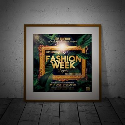 Fashion Week Poster PSD Template