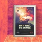 Church Sermon Theme Poster PSD Template – Thy Will Be Done