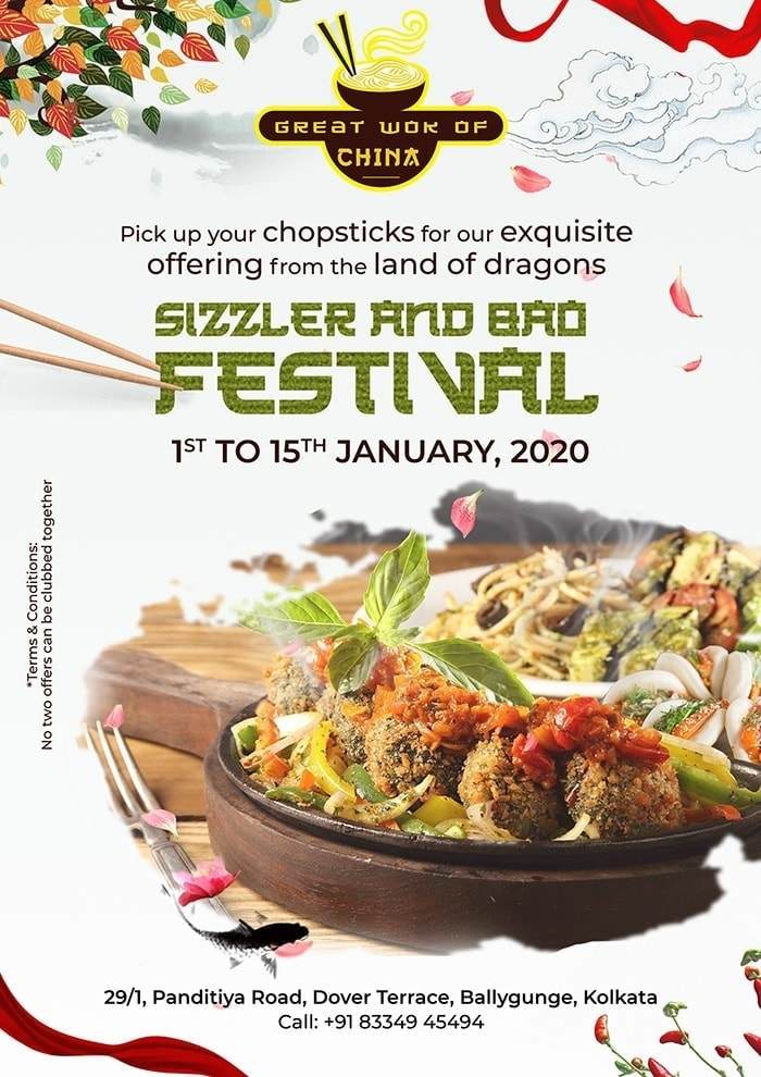 Sizzler and Bao Festival Restaurant Flyer Template