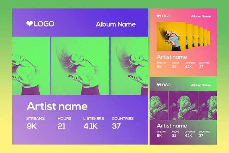 Spotify Style Photo Template