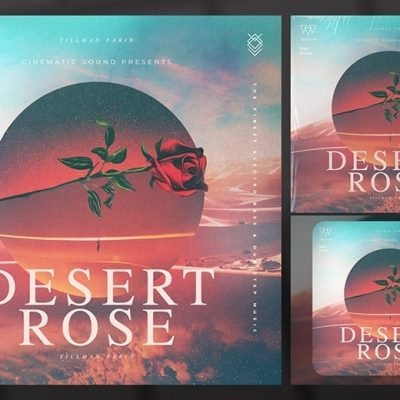 desert rose album cover art template