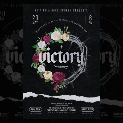 Victory Church Poster Template