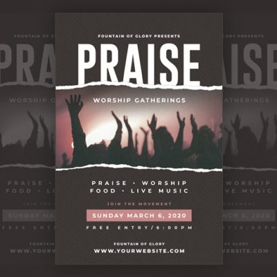Praise Church Poster Template