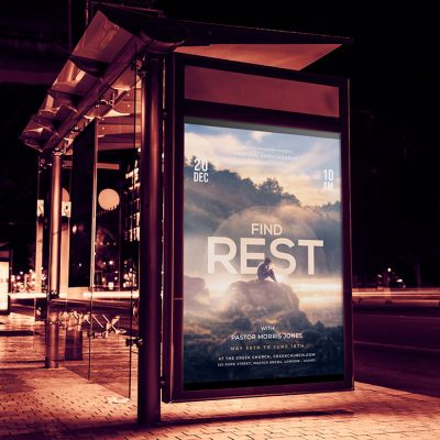 Find Rest Church Flyer Template