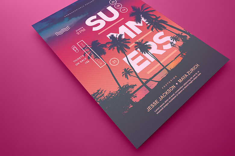 Summers Poster Template