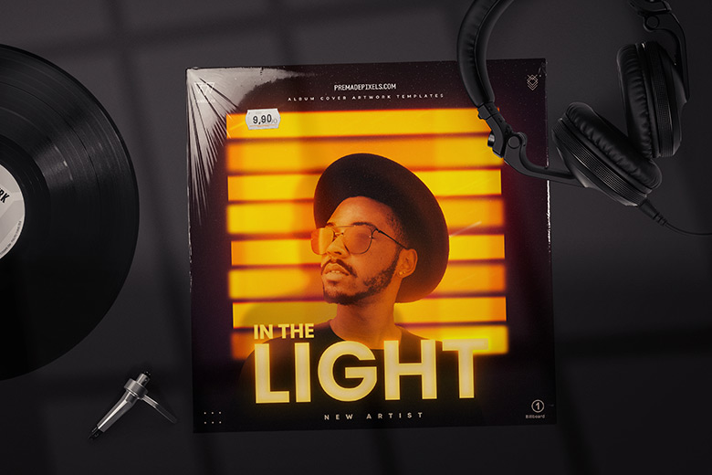 In the Light Album Cover Template