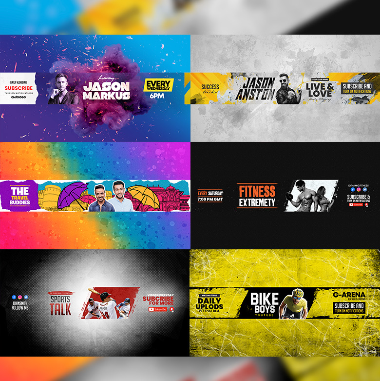 Youtube Banner Template Set 5